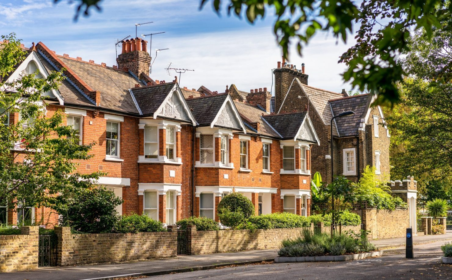 Traditional London terraced houses