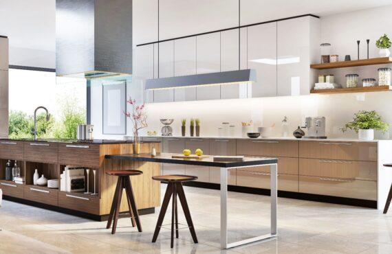 Modern kitchen interior design in a luxury house